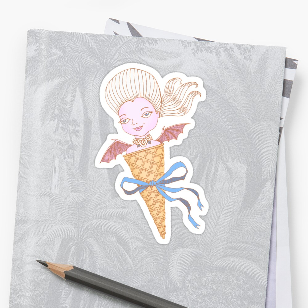 Marie Antoinette Ice Cream Cone with Bat Wings by SusanSanford