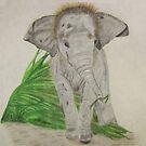 Baby Elephant, Too by aprilann