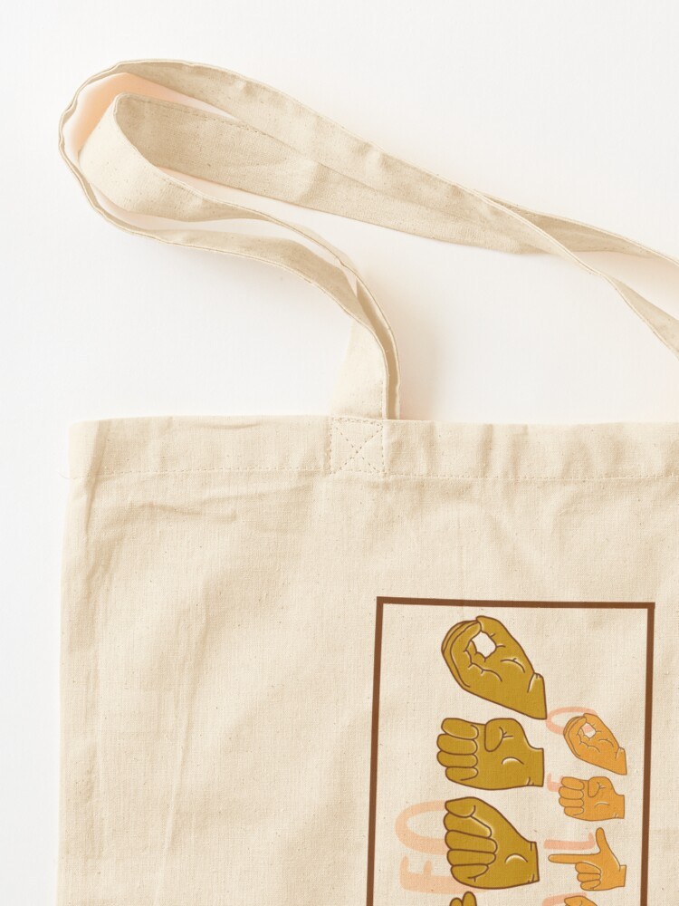 """Alternate view of """"Archaeo Not Paleo"""" in American Sign Language (ASL) Tote Bag"""