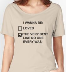 I wanna be (black text) Women's Relaxed Fit T-Shirt