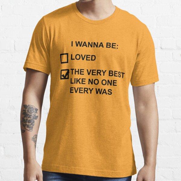 Je veux être (texte noir) T-shirt essentiel