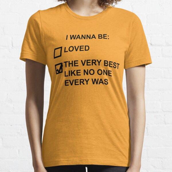 Quiero ser (texto negro) Camiseta esencial