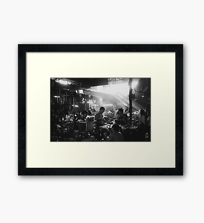 your abandoned and malignant heart Framed Print