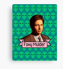 Foxy Mulder ft. Aliens Canvas Print