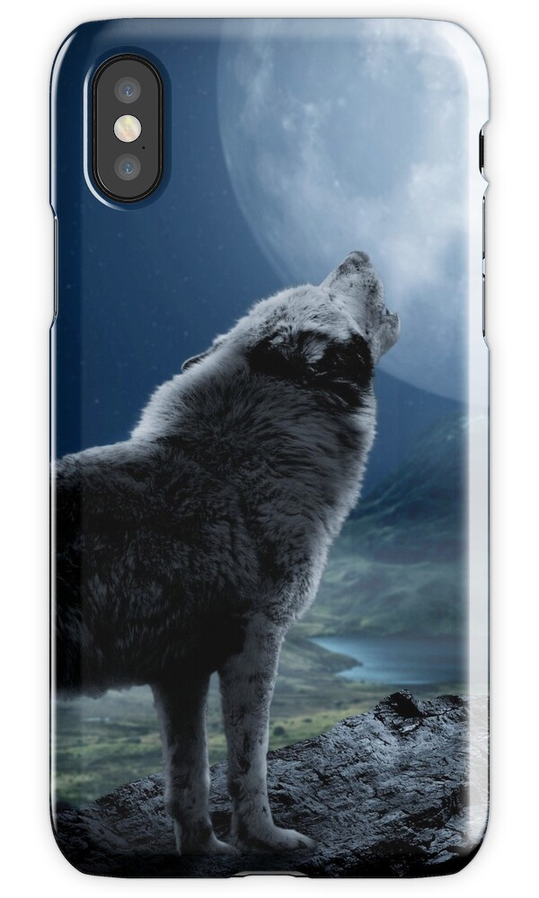 """Howling Wolf"" iPhone Cases & Covers by Destroyed-Pixel ...