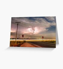 Intersection Storm Greeting Card
