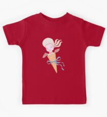 Marie Antoinette Ice Cream Cone with Bat Wings Kids Tee