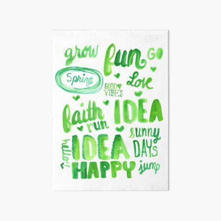 Fun In Green Art Board Print