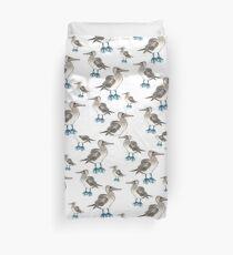 blue foot bobbie pattern Duvet Cover