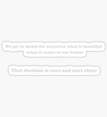 Aniston's Decision Sticker