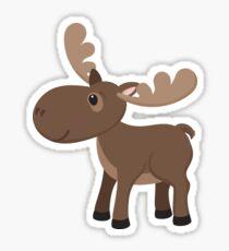 Cartoon Moose Sticker