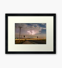 Cars Lightning and Lines Framed Print