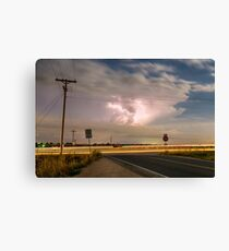 Cars Lightning and Lines Canvas Print