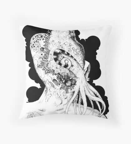 Minion of Cthulhu in Ceremonial Mask Throw Pillow