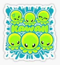 Attack oF the Kawaii Octopods Sticker