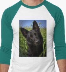 6d6687fe german shepherd black Baseball ¾ Sleeve T-Shirt