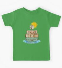 Wanderlust - World Traveler  Kids Tee