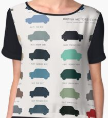 Austin Mini classic - 60's original car colours  Women's Chiffon Top