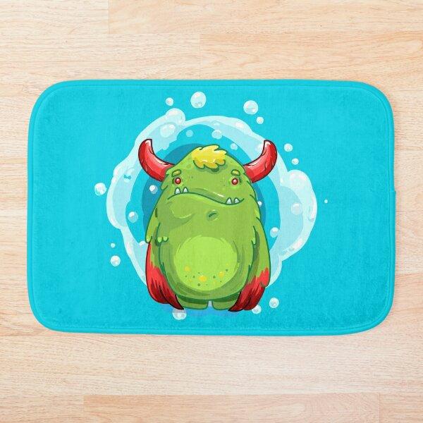 Cute Burly Friendly Monster Bath Mat
