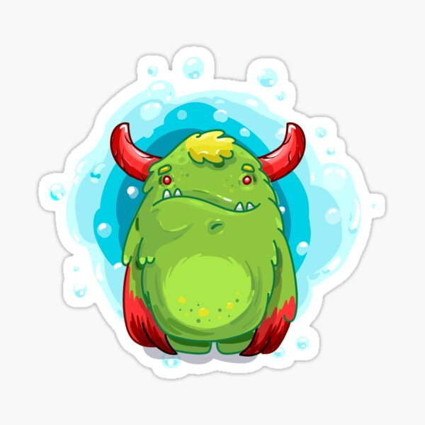 Cute Burly Friendly Monster Sticker