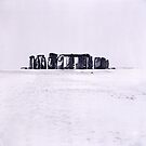 Stonehenge in the snow by DBigwood