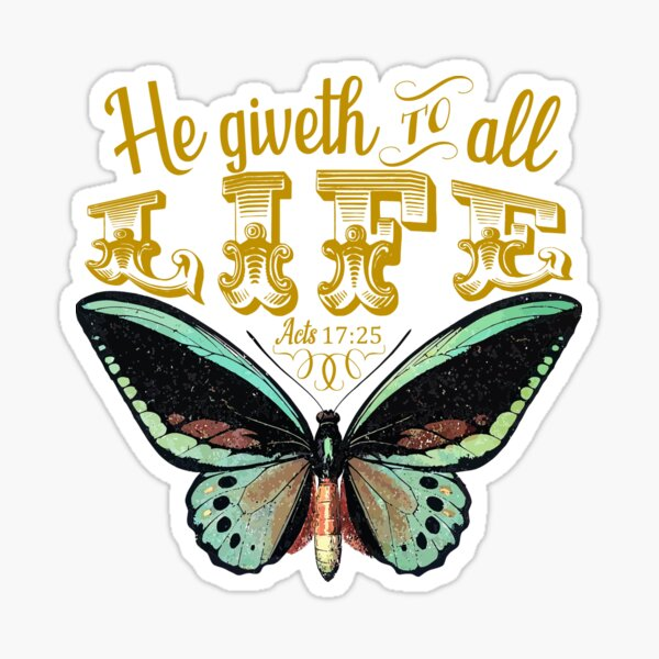 Acts 17:25 KJV Sticker