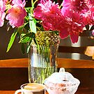 Morning's coffee with peons aroma by Maryna Gumenyuk