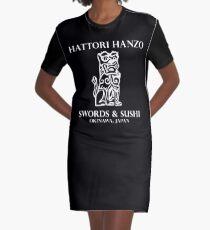 Swords & Sushi Graphic T-Shirt Dress