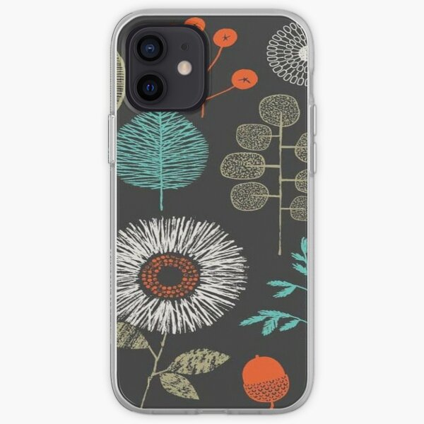 abstract retro-orla floral design  iPhone Soft Case