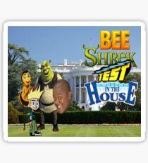 Bee Shrek Test in the House Design Sticker
