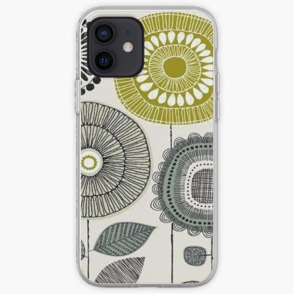 abstract scandinavian - orla floral design  iPhone Soft Case