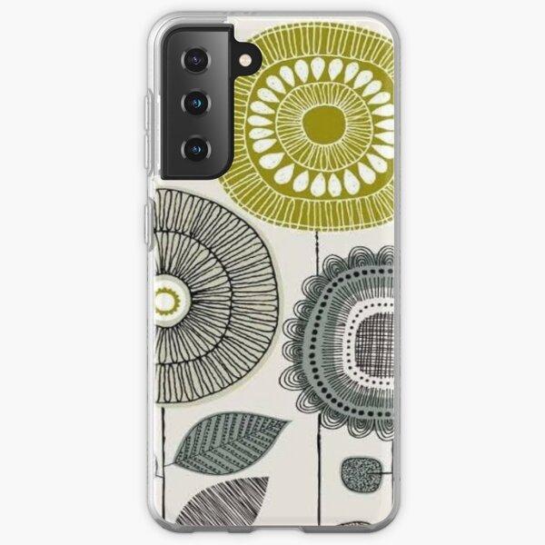 abstract scandinavian - orla floral design  Samsung Galaxy Soft Case