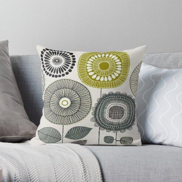 abstract scandinavian - orla floral design  Throw Pillow
