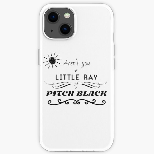 Aren't You a Little Ray of Pitch Black - Black iPhone Soft Case