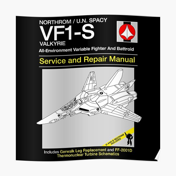 VF-1 Service and Repair Poster