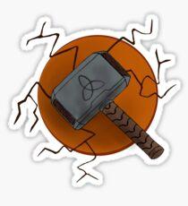 Mjolnir in Palette 23 Sticker