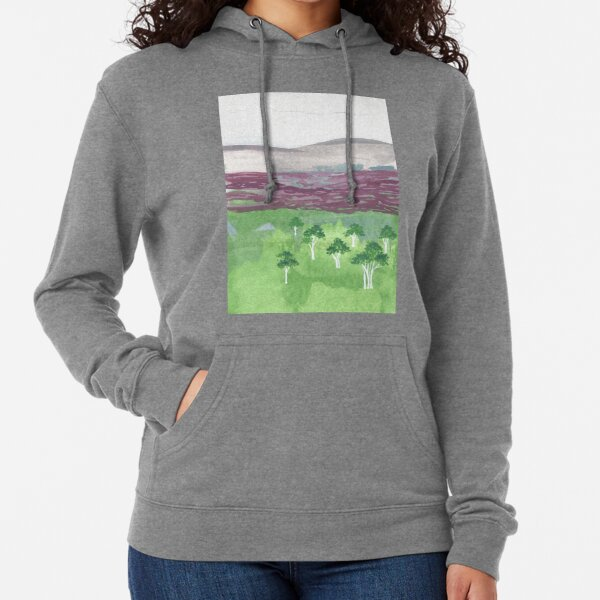 Australian landscape with white trees Lightweight Hoodie