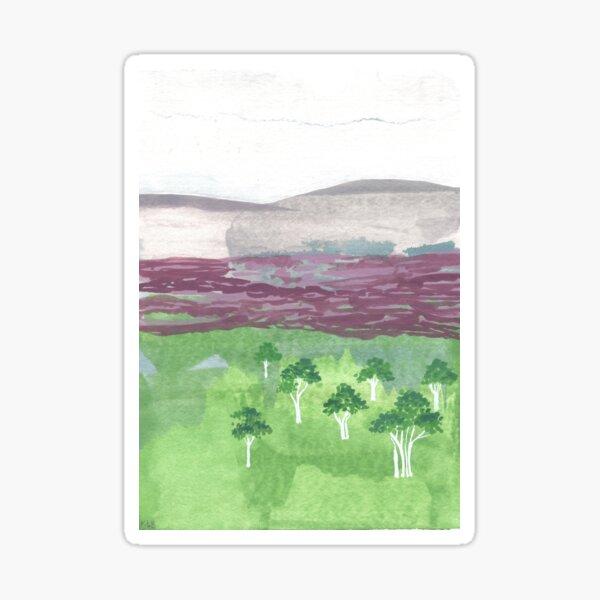 Australian landscape with white trees Sticker