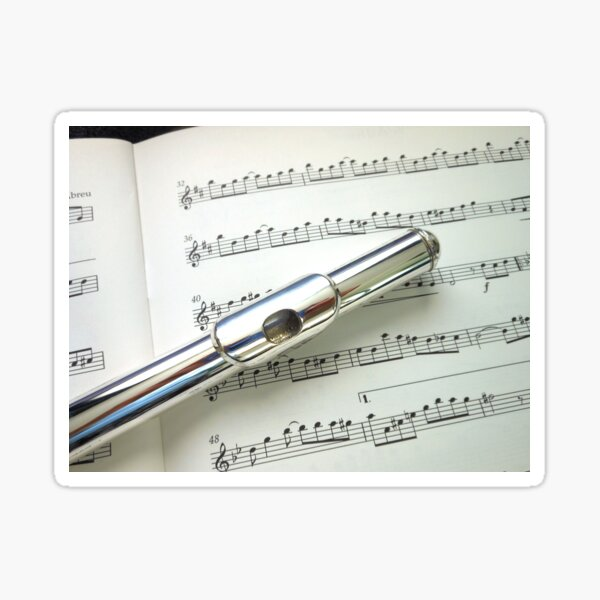 Pause for Breath - Flute and Sheet Music Sticker