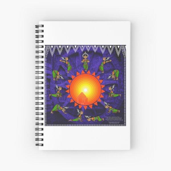 Suryanamaskar - Little Odissi Dancer Spiral Notebook