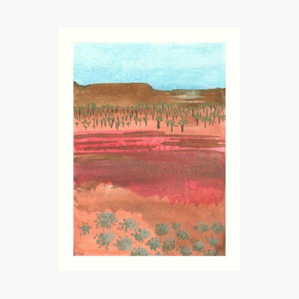 Australian landscape - A Sunburnt Country Art Print