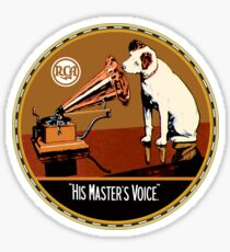 His Masters Voice vintage RCA Sticker