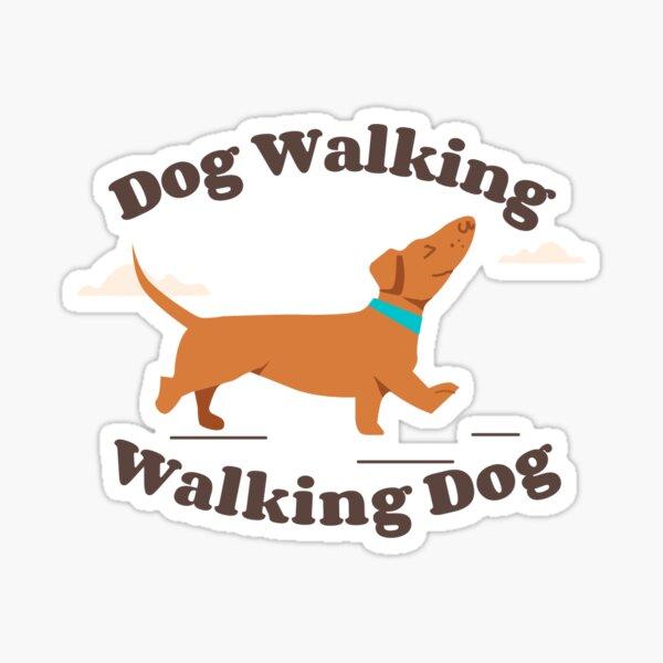 dog walking Sticker