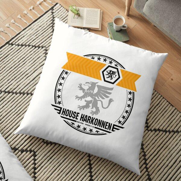 House Harkonnen Crest : Inspired by Dune Floor Pillow