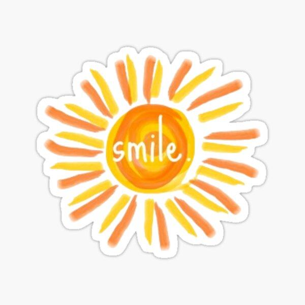 sonrisa. Pegatina