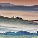 Val DOrcia, misty morning by Vicki Moritz