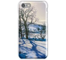 Winter light in Wharfedale iPhone Case/Skin