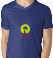 Island records Jamaica  Men's V-Neck T-Shirt