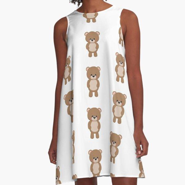 Teddy Bear A-Line Dress