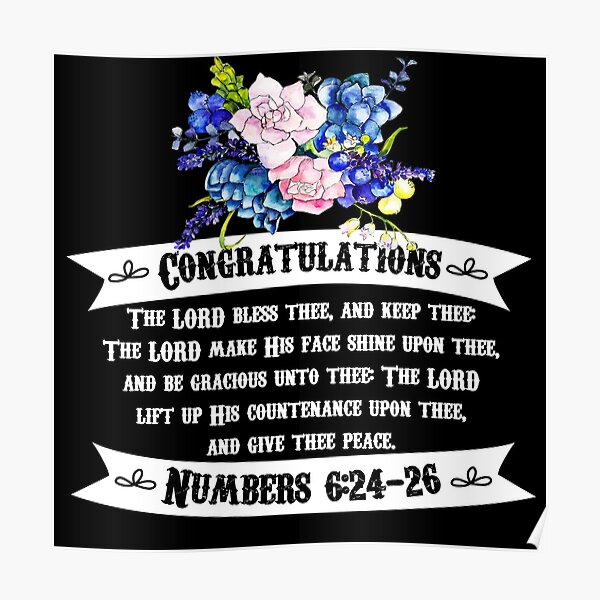Congratulations - Blessing Poster